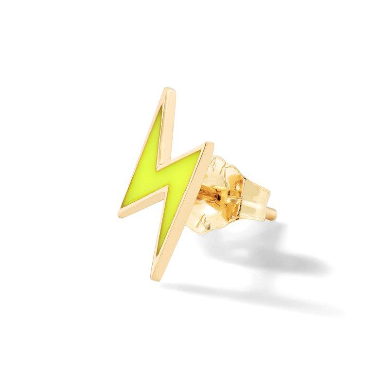 Alison Lou Single Lightning Bolt Stud Earring