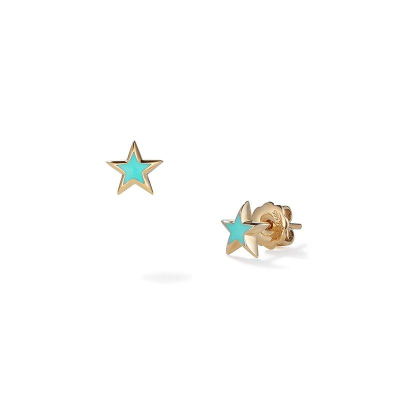 Suel Small Star Stud Earrings