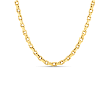 """Square Link Chain 34"""" Length"""