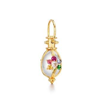 Rainbow Egg Amulet Pendant