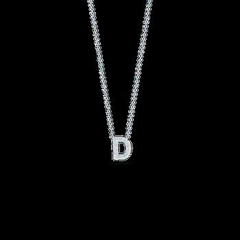 Letter D Necklace Adjustable 16' to 18'