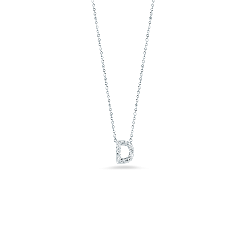 Roberto Coin Letter D Necklace Adjustable 16' to 18'