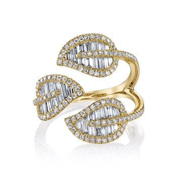 Tri-Leaf Ring Size 7