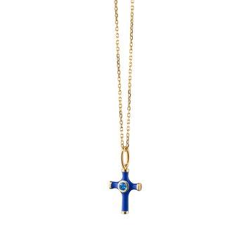 "Cross Charm Necklace 17"" Length"