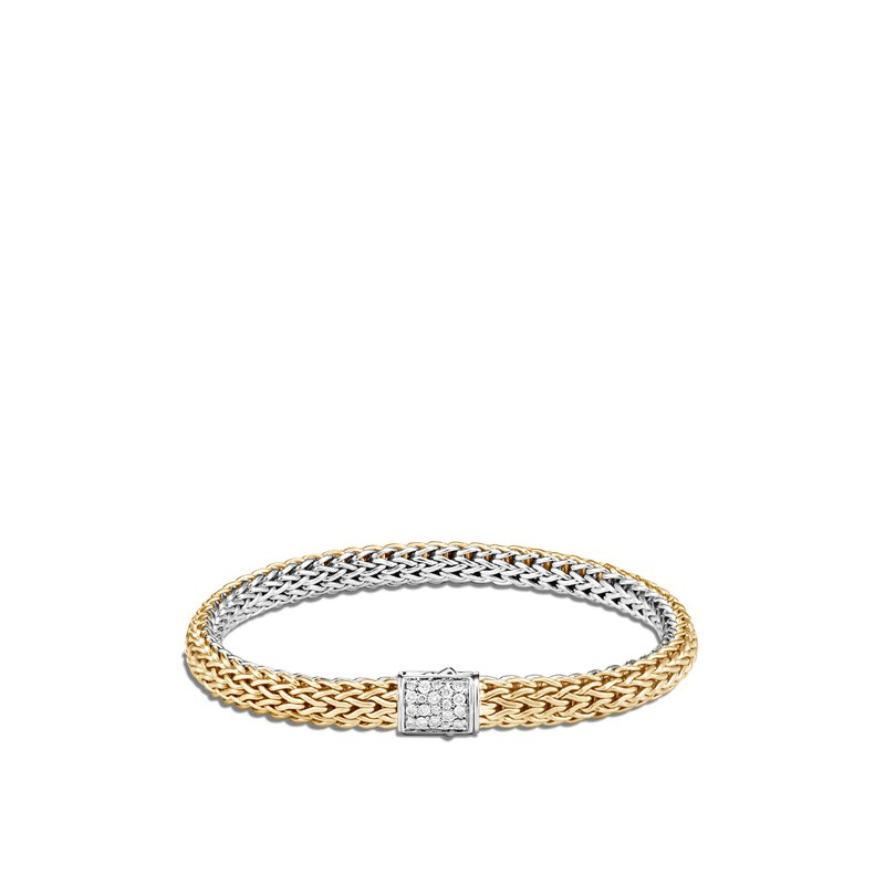 John Hardy Reversible Bracelet Size Large 6.5mm