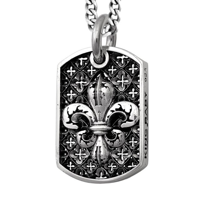"""KING BABY Dog Tag Necklace 24""""""""Length"""