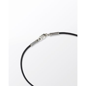 """Black Leather Necklace 20"""""""" Length"""