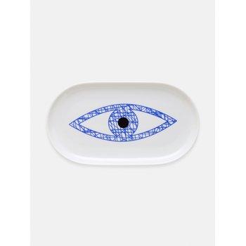 Oval Mini Blue Evil Eye Plate