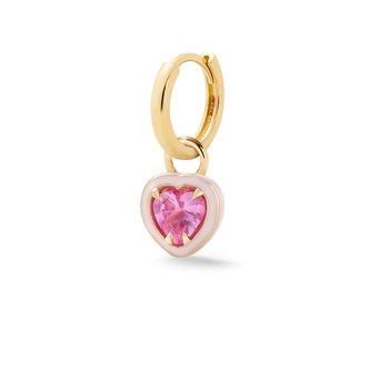 Heart-Shaped Single Huggie Earring