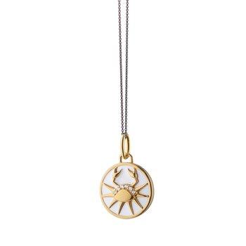 "Mini Cancer Charm Necklace 17"" Length"