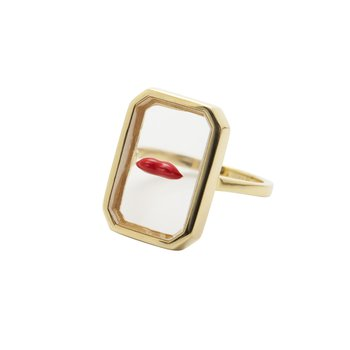 Red Lips Ring