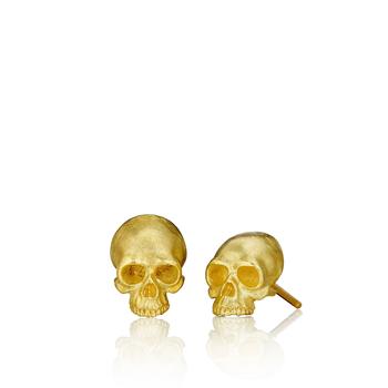 Tiny Skull Stud Earrings