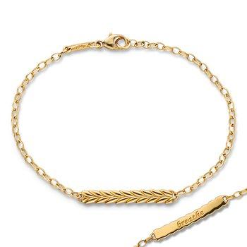"""Leaf Pattern Bracelet Length 7"""""""