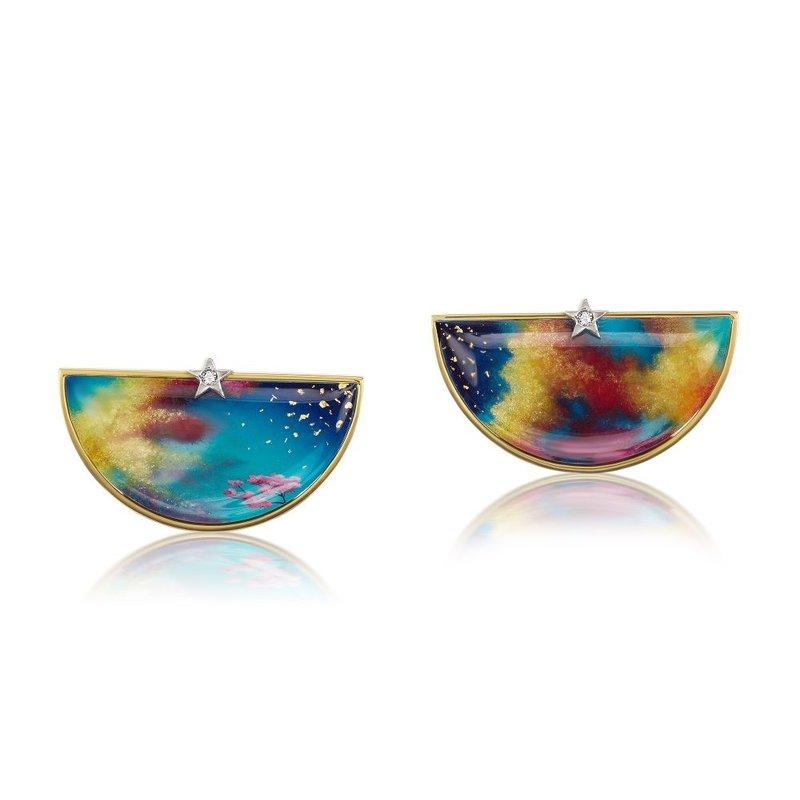 Anna Maccieri Rossi Hand Painting Earrings