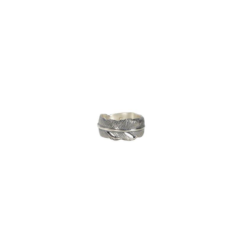 JOHN VARVATOS Feather Ring Size 10