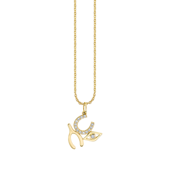 """Luck & Protection Wishbone Necklace Length 16"""" adjustable to 18"""""""