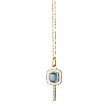 "Mini Cushion Key Necklace 17"" Length"