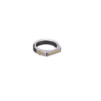 Men's Gold Line Stackable Ring Size 10