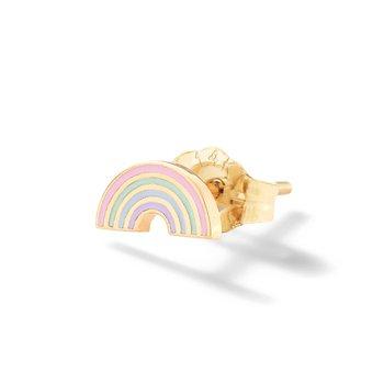 Rainbow Enamel Single Stud Earring