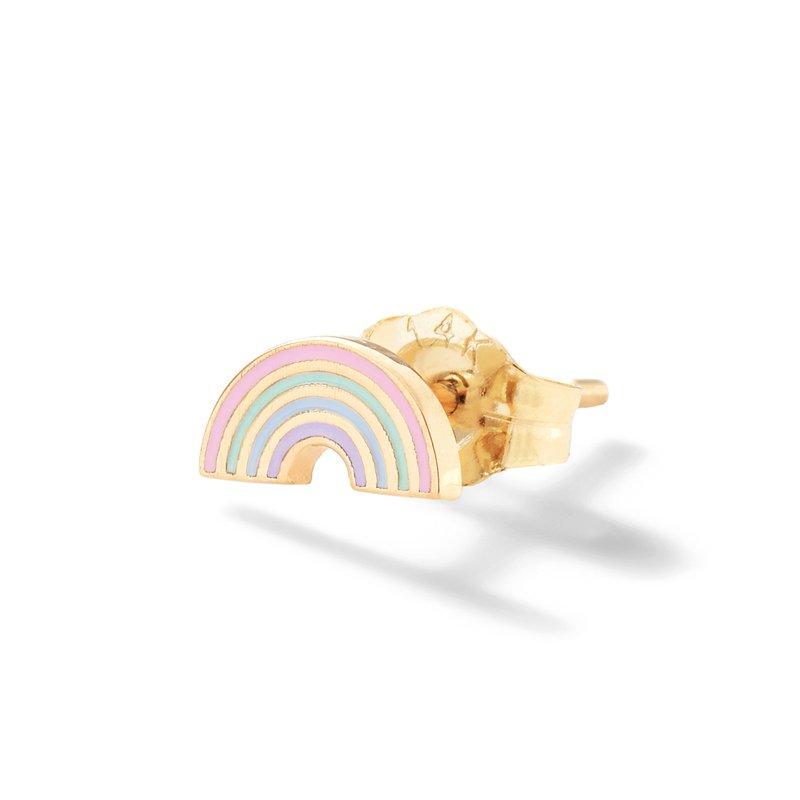 Alison Lou Rainbow Enamel Single Stud Earring