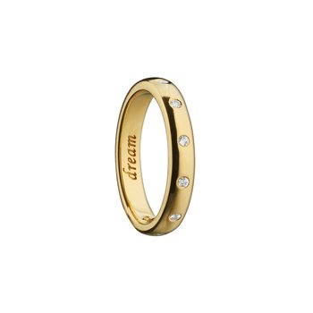 """""""Dream"""" Engraved Ring Size 4"""