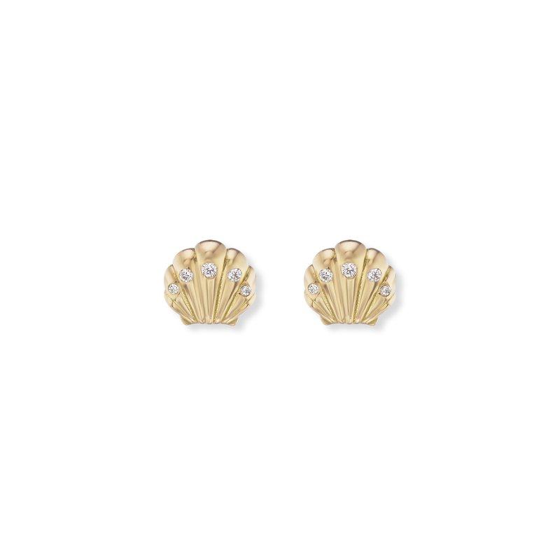 Brent Neale Tiny Seashell Stud Earrings