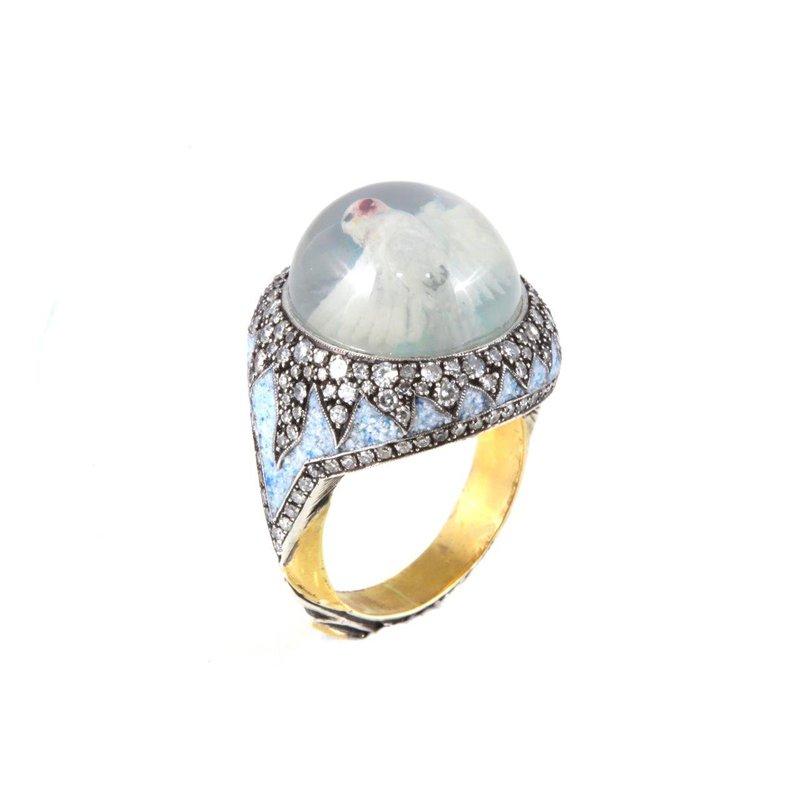 Sevan Bicakci Dove Ring Size 8 1/2