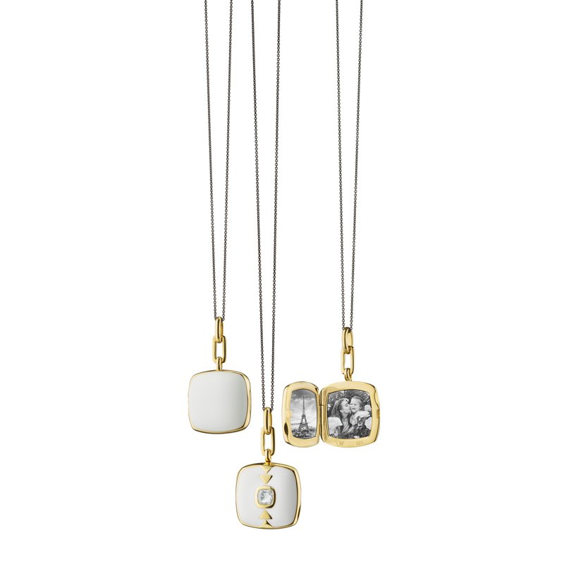 "Monica Rich Kosann Cushion Locket Necklace Length 16"" ajdustable to 17"""