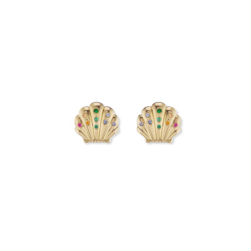 Brent Neale Small Rainbow Shell Stud Earrings