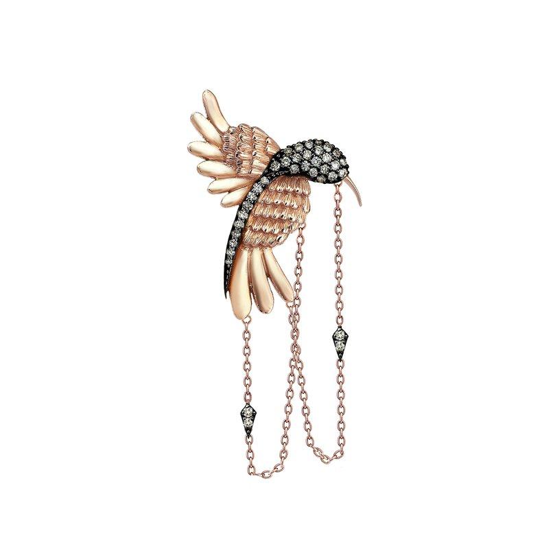 Kismet by Milka Hummingbird Single Earring