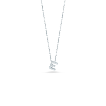 "Love Letter E Necklace Length 16"" adjustable to 18"""