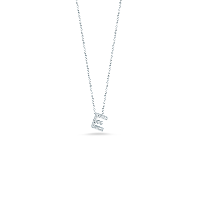 """Roberto Coin Love Letter E Necklace Length 16"""" adjustable to 18"""""""