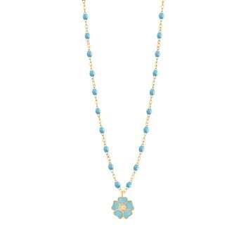 "Flower Necklace Length 16.5"""