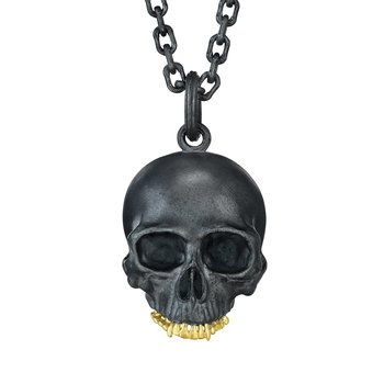 "Skull Necklace 22"" Length"