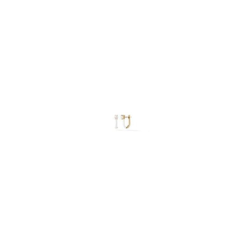 Melissa Kaye Aria U Huggie Hoop Earrings
