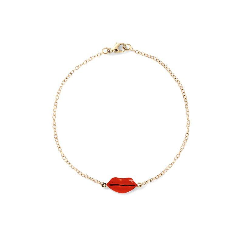 Alison Lou Lips Bracelet