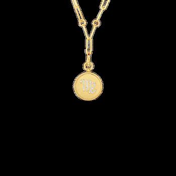"""Zodiac Necklace Length 19"""""""