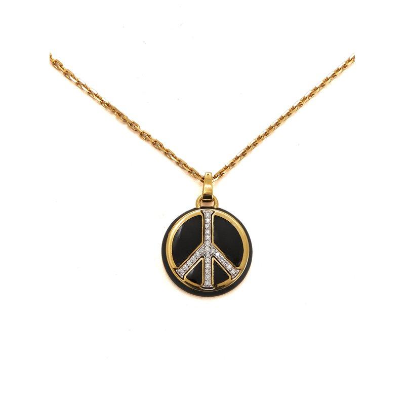 "David Webb Peace Necklace Length 15.25"""