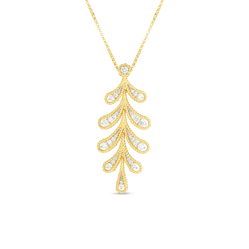 Roberto Coin Laurel Leaf Necklace