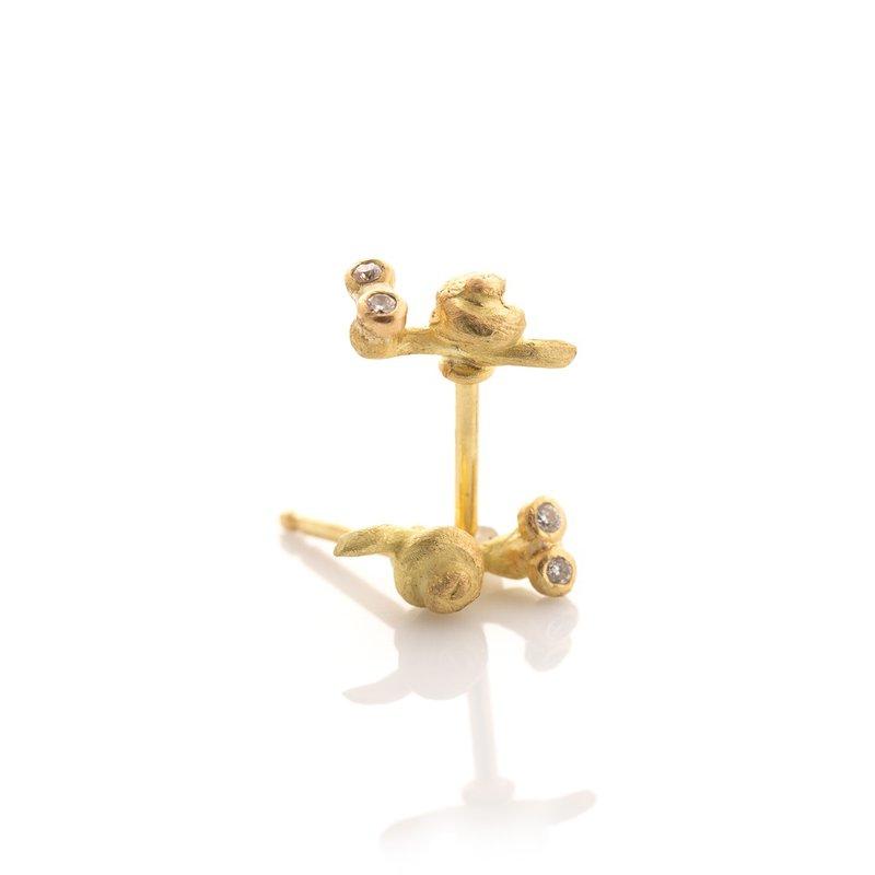 Lene Vibe Small Snail Stud Earrings