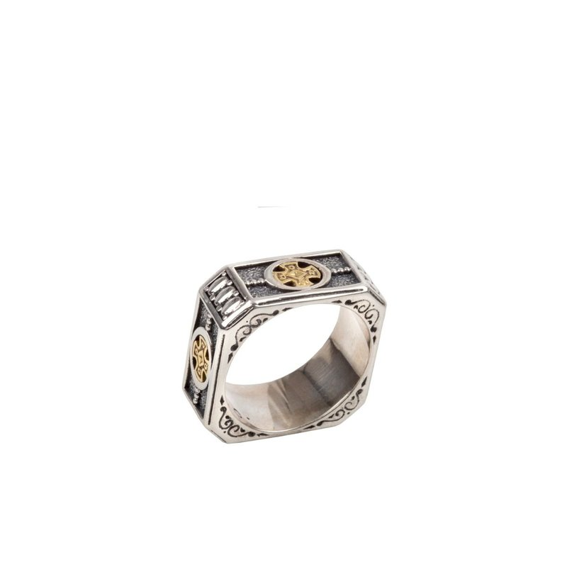 Konstantino Wide Band Ring Size 10