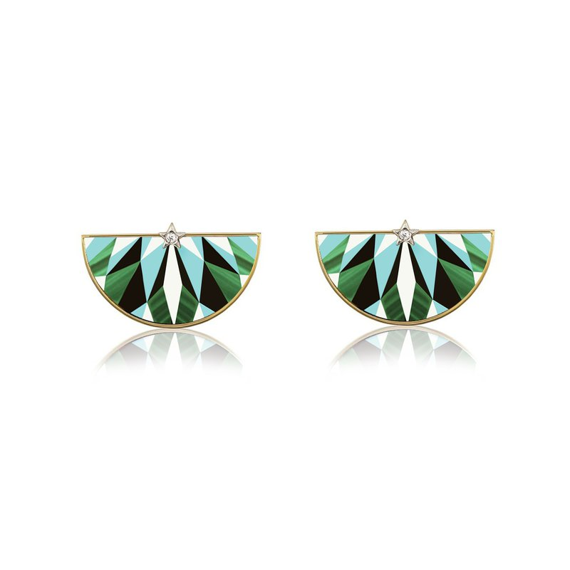 Anna Maccieri Rossi Mosaic Earrings