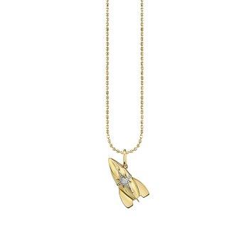 "Rocket Charm Necklace 18 "" Adjustable"