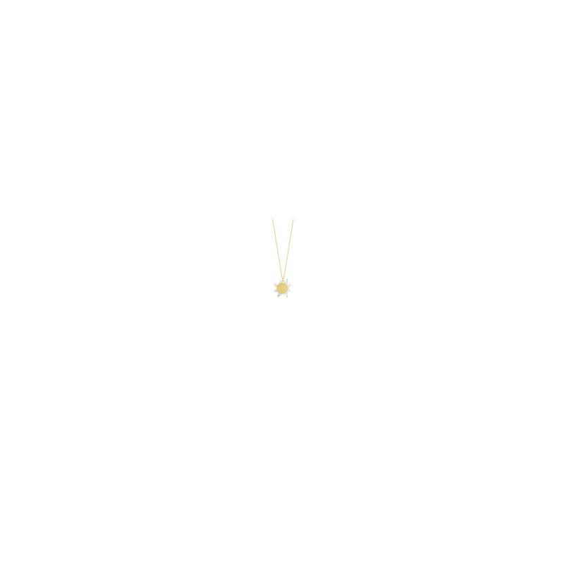 "Luisa Rosas Sun Necklace Length 171/2"" adjustable to 191/2"""