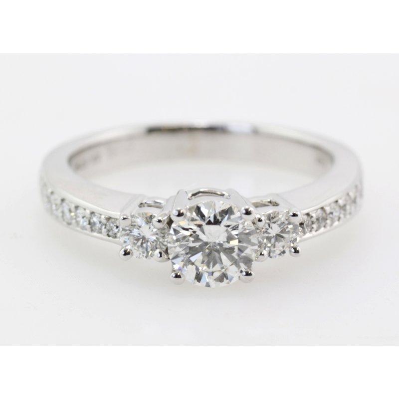 Knappett Designs Three Stone Diamond Engagement Ring