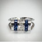 VandenDool Estate Jewellery Lady's Sapphire and Diamond Ring