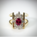 VandenDool Estate Jewellery Lady's Pink Tourmaline and diamond ring