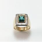 VandenDool Jewellers Custom Designs Scissor Cut Tourmaline and Diamond Ring