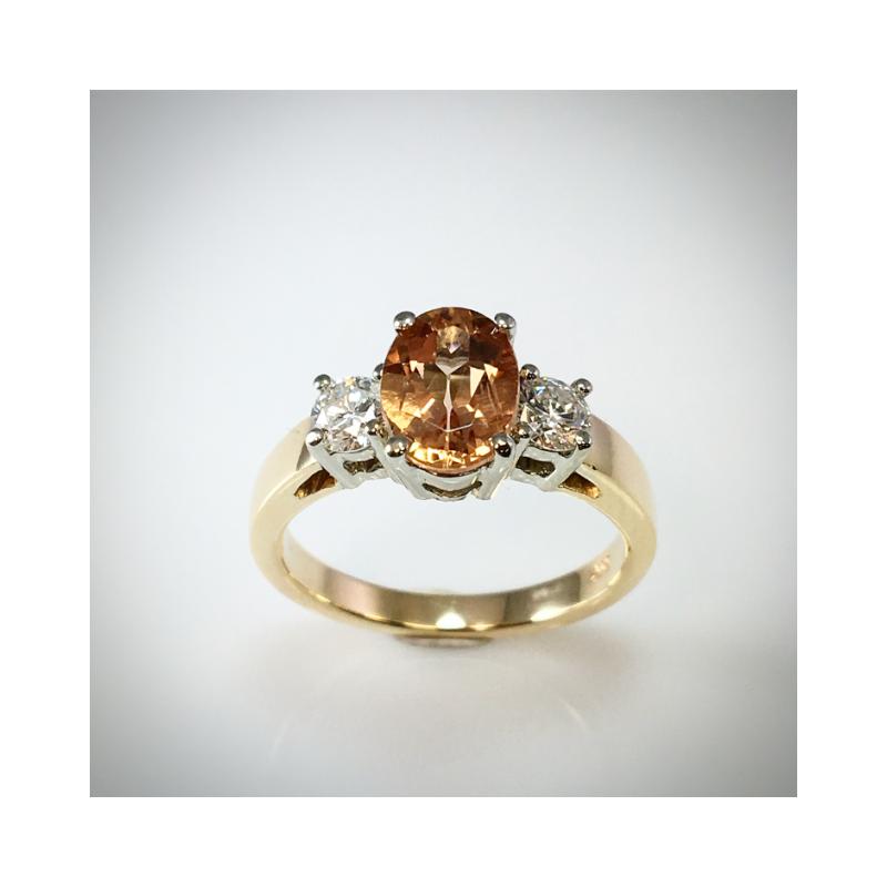 VandenDool Estate Jewellery Lady's Natural Topaz and diamond ring