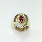 VandenDool Jewellers Custom Designs Marquise Ruby and Diamond Ring